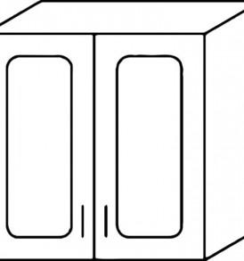 Кухня «Агава»МДФ лиственница светлая- модульная  Шкаф-В800