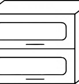 Кухня «Агава»МДФ лиственница светлая/темная-модульная Шкаф В-800Г
