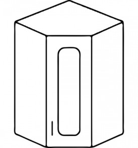 Кухня «Агава»МДФ лиственница светлая/темная- модульная Шкаф ВУ-550