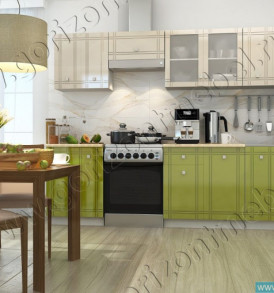 Кухня «Сити МДФ» модульная (ваниль/олива) Шкаф800