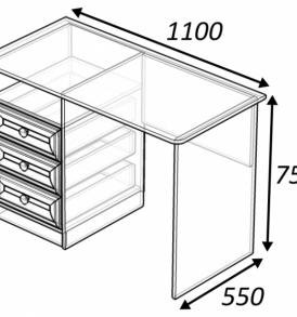 Модульная система  «Классика» Стол письменный
