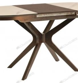 Стол  обеденный «Сильвер»120*80(овальный-стекло)