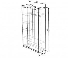 Модульная система»Версаль» Шкаф 3х дверный (белый глянец)