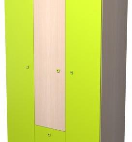 Модульная система «Радуга» Шкаф-3.2.2 (дуб/желтый)
