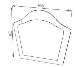 Модульная система»Версаль» зеркало (белый глянец)