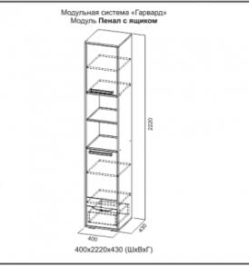 Модульная система для детской «Гарвард» Пенал с ящиком