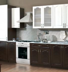 Кухня «Лирика МДФ»1.2м   (Сандал белый/венге рельефный)