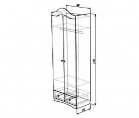 Модульная система «Версаль» Шкаф 2х дверный (белый глянец)