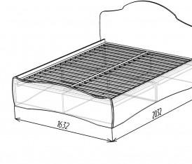 Модульная система «Версаль» Кровать 1600 (белый глянец)