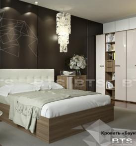 Кровать»Баунти» 1,6м (ясень шимо/крем) с подъемным механизмом