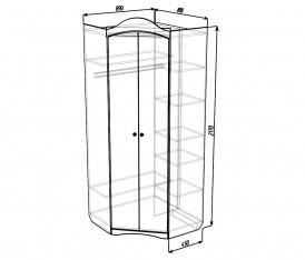 Модульная система «Версаль» Шкаф угловой (белый глянец)