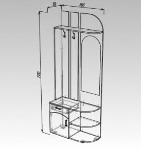 Модульная система «Ока-8″ МДФ (сонома/белый глянец)