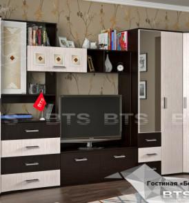 Шкаф «Белла» 3х дверный с зеркалом( венге/дуб атланта)