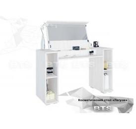 Модульная система «Лагуна»косметический стол(ясень белый/серебро)