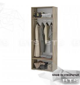 Модульная система «Наоми» Шкаф распашной без зеркала ШК-20 (Дуб Каньон/Белый глянец)