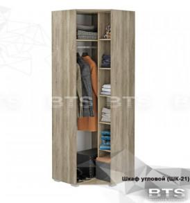 Модульная система «Наоми» Шкаф угловой  ШК-21 (Дуб Каньон/Белый глянец)