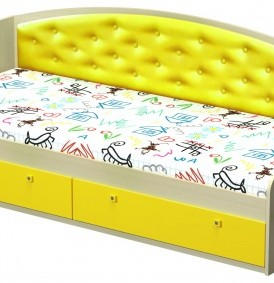 Модульная система «Радуга» Кровать с мягкой спинкой