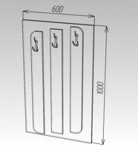 Модульная система «Ока-8″ Вешалка МДФ (сонома/белый глянец)