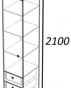 Модульная система «Радуга» Пенал-1.3(дуб/лайм)