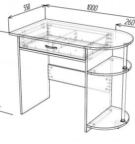 Стол письменный «Ноутбук»( шимо тем/ светл)