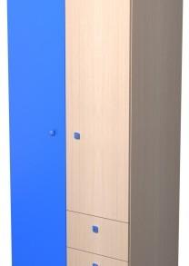 Модульная система «Радуга» шкаф-2.3 (дуб/желтый)