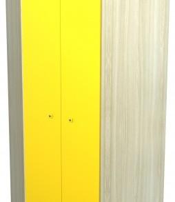 Модульная система «Радуга»шкаф угловой (дуб/голубой)