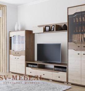 Модульная система  для гостиной «Верона» Полки для  пенала