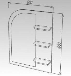 Модульная система»Ока-8″ Зеркало №3 МДФ (сонома/белый глянец)