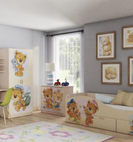 Кровать для детской КР-3 «Мишки»