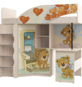 Комплект для детской  Д- №1 » Мишки» УФ с печатью