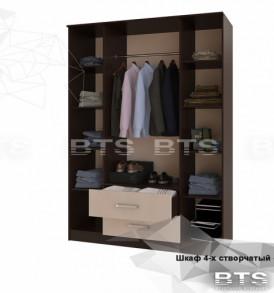 Модульная система «Фиеста» Шкаф 4-х дверный ( венге/ лоредо)