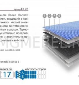 Матрац «Эконом» 1.4*2.00 (синяя клетка)