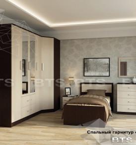 Модульная система «Фиеста» Кровать 900м ( венге/ лоредо)Без основания!