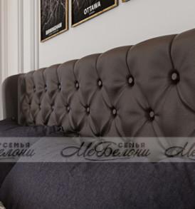 Кровать «Франческа»-  с подъемным механизмом (экокожа шоколад)