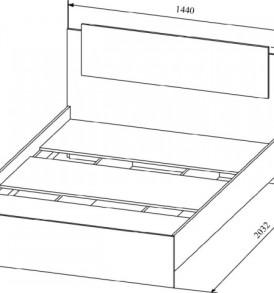 Модульная система » Софи» Кровать СКР 1400.1