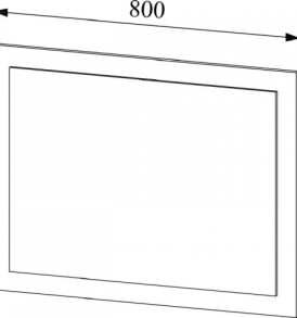 Модульная система » Софи» Зеркало СЗ 800.1