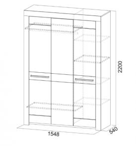 Спальня  «Лагуна- 6″ Шкаф 3х дверный