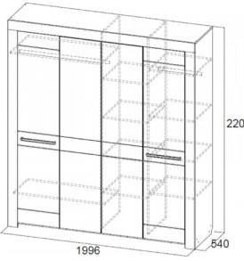 Спальня  «Лагуна- 6″ Шкаф 4х дверный
