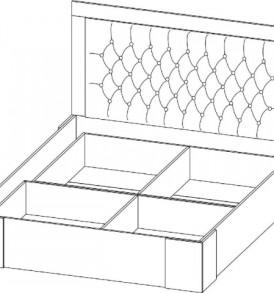 Спальня  «Лагуна- 6″ Кровать двойная универсальная 1,40