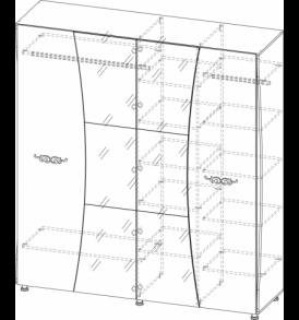 Спальня  «Лагуна- 7″  Шкаф 4х дверный 1,80