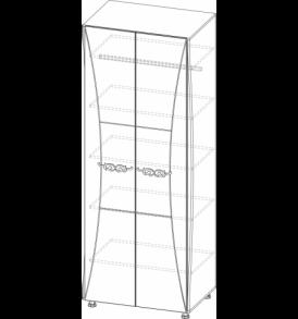 Спальня  «Лагуна- 7″  Шкаф Комбинированный