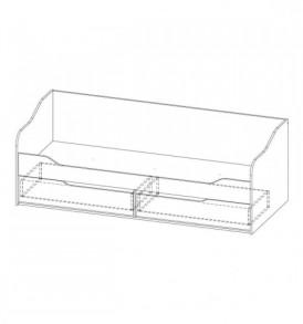 Детская » Грей»- Кровать — диван с ящиками