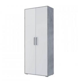 Детская » Грей»- Шкаф 2х дверный комбинированный