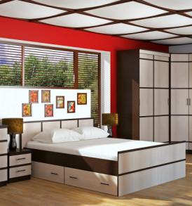 Спальня » Сакура» Кровать 1.60 Без основания!
