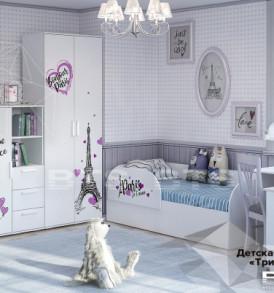 Модульная детская » Трио Бонжур» Кровать детская ( Кр-07)