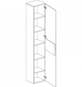 Спальня » Вегас»  Шкаф 1-Д  Пенал