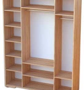 Спальня «Делис» Шкаф 4х дверный  (сонома/шелк жемчужный)