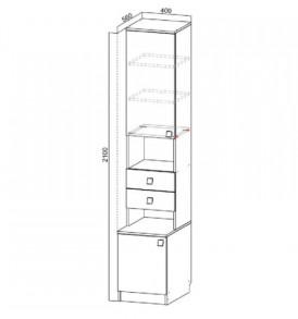 Модульная система  «Гамма-15″ Пенал открытый  400