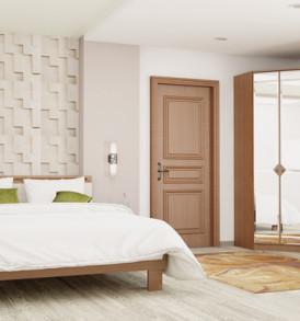 Спальня «Азалия 14 М» Кровать (орех/лен) без решетки