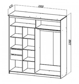 Спальня  «Лагуна- 5″ Шкаф- купе №16 2м